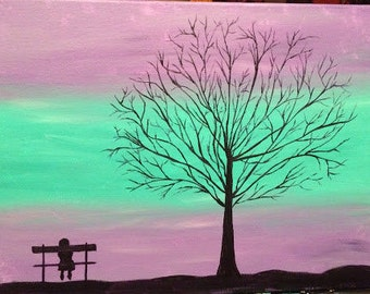Original Canvas Painting - Growing Up No. 1