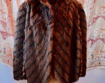 1960s Vintage Fur Cape