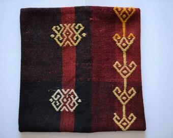 eclectic decor, turkish kilim pillow, kilim pillow case, vintage cushion, oriental pillow, tribal pillow, accent pillow,oriental home, no245