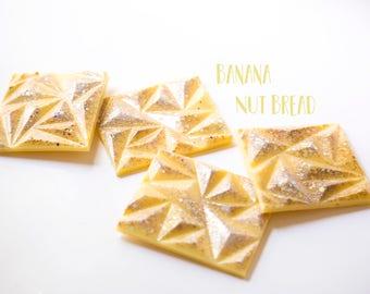 Banana Nut Bread Wax Melts (6.3 Oz) Wax Brittle - Handmade Wax Melt - Banana Scented - Hand Poured Wax Melts - Bakery Fragrances - Wax Tarts