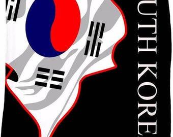 South Korea Flag Fleece Blanket