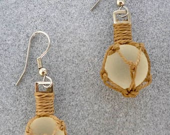 Mini Glass Floater Earrings