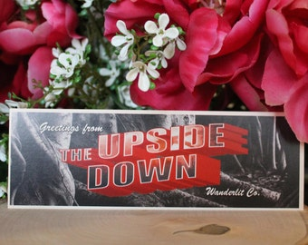 The Upside Down | Stranger Things inspired bookmark