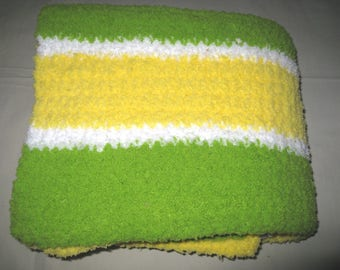 Crocheted Baby Blanket, Plush, Soft, Fuzzy, Fluffy