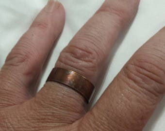 NEW Solid Copper Patina Band Ring sizes 6 - 13 Width 6mm, 8mm or 10mm