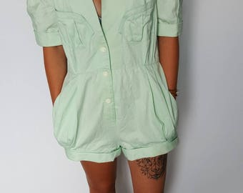Romper / pure vintage / 1980's / THIERRY MUGLER / Green