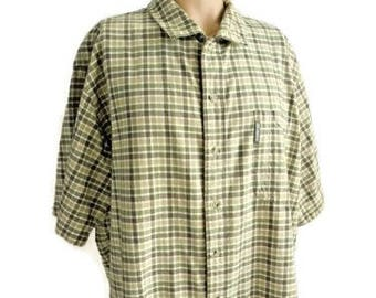 Columbia 100% Cotton Check Casual Shirt Size XXL