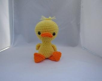 Crochet Duck, Stuffed Duck, Crochet Duck Plush, Crochet Duck Toy