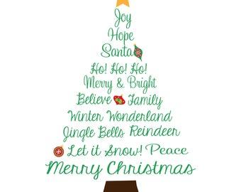 Christmas Tree - Digtial Print 8x10