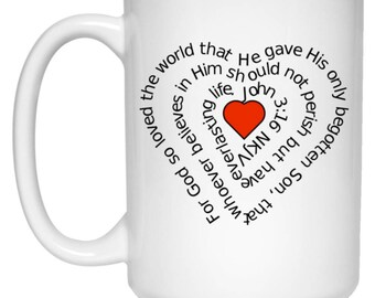 For God So Love The World John 3:16 Christian Mug