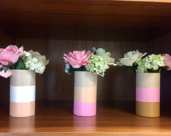Glass Vases - Set of 3 - for flowers and more - Home Decor