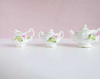 Miniature Set Healacraft // Sucre & Cream and a Teapot // High Tea Party