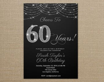 60th birthday invite etsy stopboris Choice Image