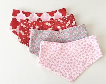 Valentine's Day | Pink & Red | Hearts | XOXO | Dog Bandanas