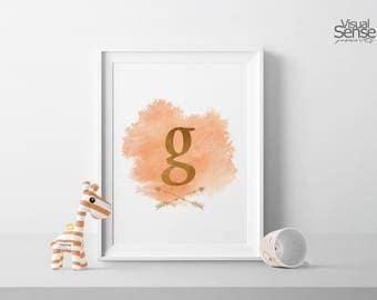 Personalized Name Print, Custon Name, Nursery Art, Digital Poster, Monogram Watercolor, Child Room, Decoration Nursery, BG002