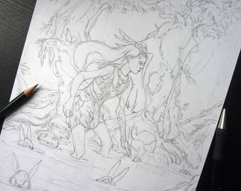 Original Illustration Sketch