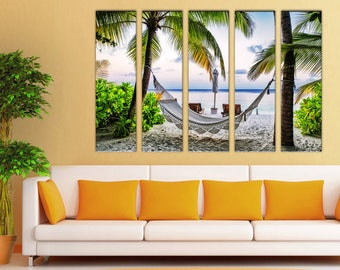 Palm Tree Tropic Wall Art Canvas Print Decor Large Home