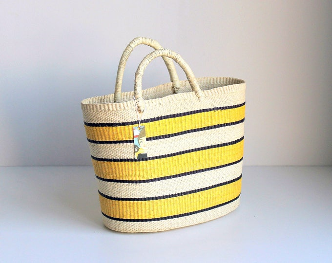 STRIPED YELLOW BAG