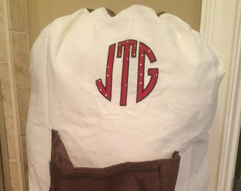 Personalized Laundry Bag/ College Laundry bag/ Monogrammed Laundry Bag/ Graduation gift/Font as seen
