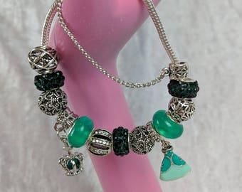 Mermaid Princess Charm Bead Bracelet