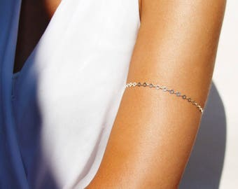 Sterling silver armlet - silver chain armlet - arm bracelet - circle armlet - boho-chic armlet - boho jewels - festival armlet - silver