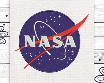 NASA Digital embroidery design 4 sizes INSTANT DOWNLOAD EE5009