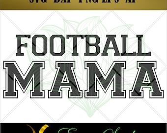 Football Mama svg, Clipart svg, Football for Cricut,Design Studio,svg Files for Cricut,Cutting Files,Silhouette svg, Silhouette Cameo.