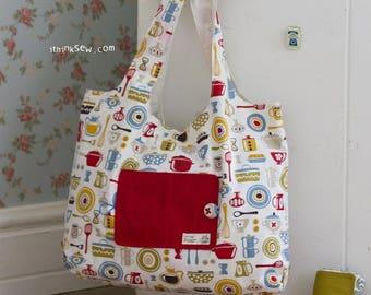 196 Eco Friendly Portable Shopping Bag PDF Sewing Pattern