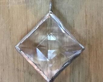 Vintage clear hand Soldered chandelier crystal pendant