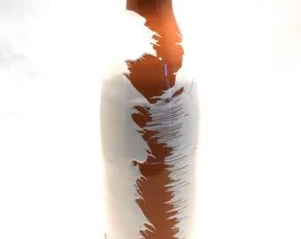 Terracotta Ceramic Bottle | Decorative Handmade Pottery |