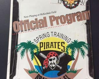 1997 Baseball Spring Training Pirates Bradenton Florida Official Program, Vintage Sports Ephemera