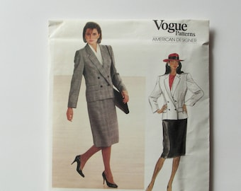 Vintage Designer Vogue, Evan Picone  - Woman's Skirt and Jacket Pattern 1323- New