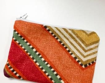 Rusty Orange Zipper pouch