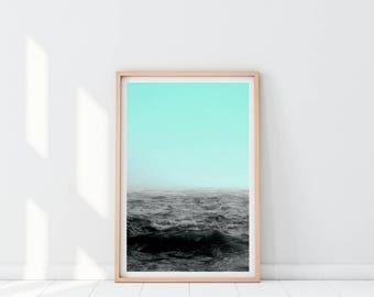 Ocean Decor, Boho chic decor, Sea Print, Seascape poster, Ocean Photography, Nature Photography, Digital Wall Art, Digital Print Download