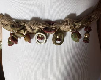 Late 70s-Early 80s Vintage Twisted Soft Jute Belt/Necklace