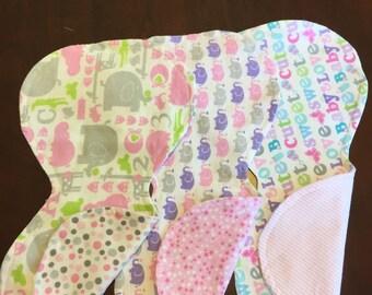 Burp Cloths - Baby Girl- Handmade