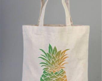 Pineapple Market bag, market tote, market tote bag, tote bag, shopping bag, everyday bags, Pine apple