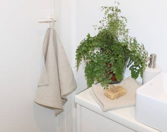 Handmade Waffle Linen Towels Hand Face Guest Towel Grey Linen Pure bath towel Sauna Beach Blanket Organic Rustic Flax Large Small Medium