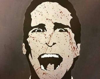 "Patrick Bateman - American Psycho Original Acrylic Pop Art Style Portrait Painting - 36"" x 36"""