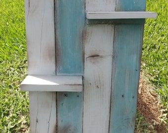 Rustic Upcycled Wood Shelf