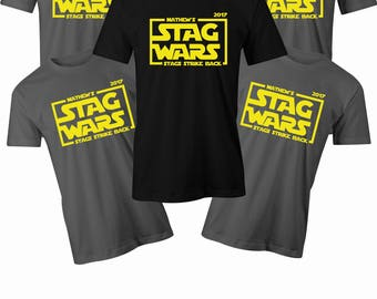 Stag wars T shirt Mens stag do t shirt Mens Bachelor party star wars funny t shirt