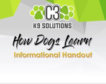 How Dogs Learn informational sheet