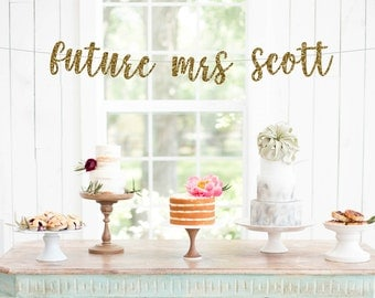future mrs banner custom banner bridal shower banner engagement party party
