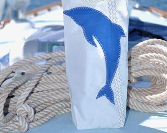 Dolphin wine bottle bag