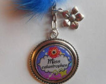 """Key ring / """"Miss disaster"""" / party/birthday/gift"""