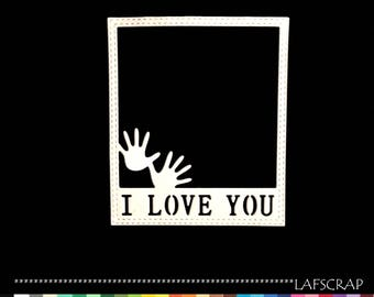 1 cut scrapbooking scrap frame hands word i love you love Baby birth paper embellishment die cut
