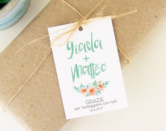 Labels for Name Tags, Wedding Confetti, custom labels for wedding favors, Wedding Tags