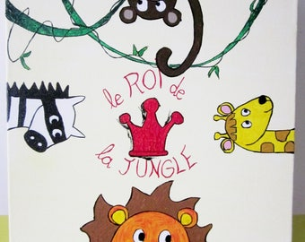 For boy or baby Jungle animals nursery table
