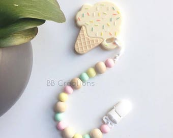 silicone teething clip