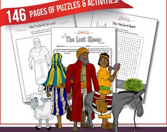 Parables of the Messiah Coloring & Activity Book